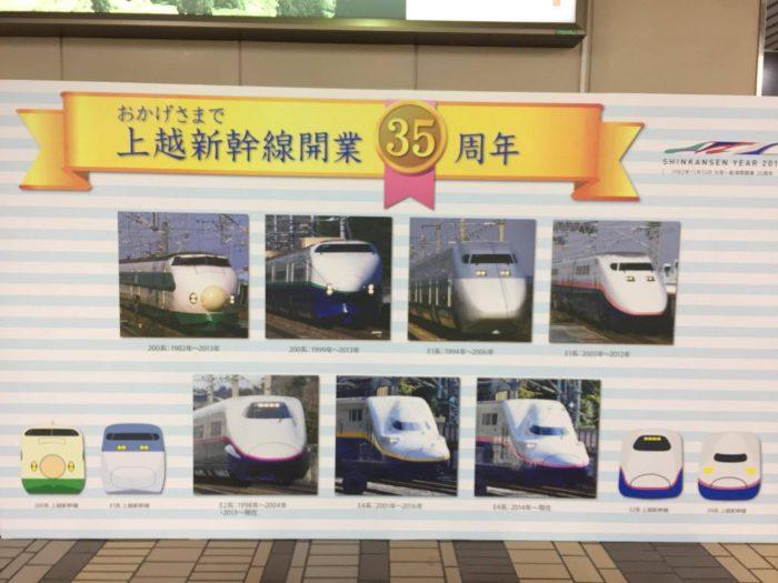 上越新幹線の軌跡in越後湯沢駅