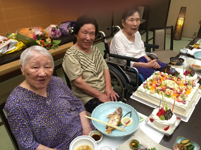 大女将、米寿のお祝い