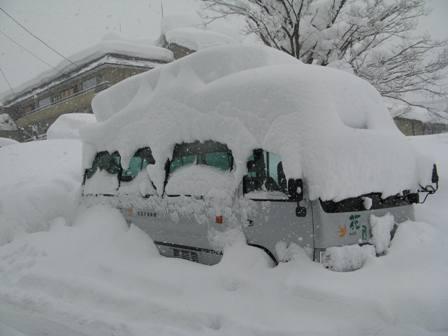 越後湯沢の冬の風景
