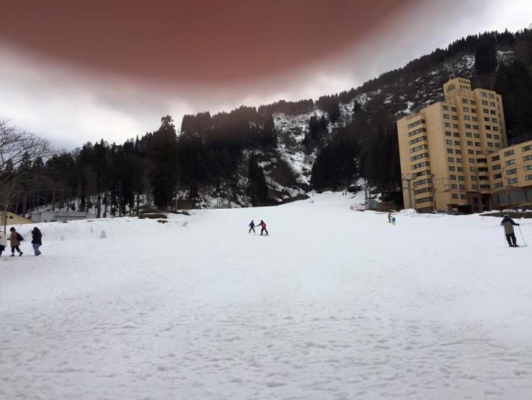 花月より徒歩1分~一本杉スキー場~