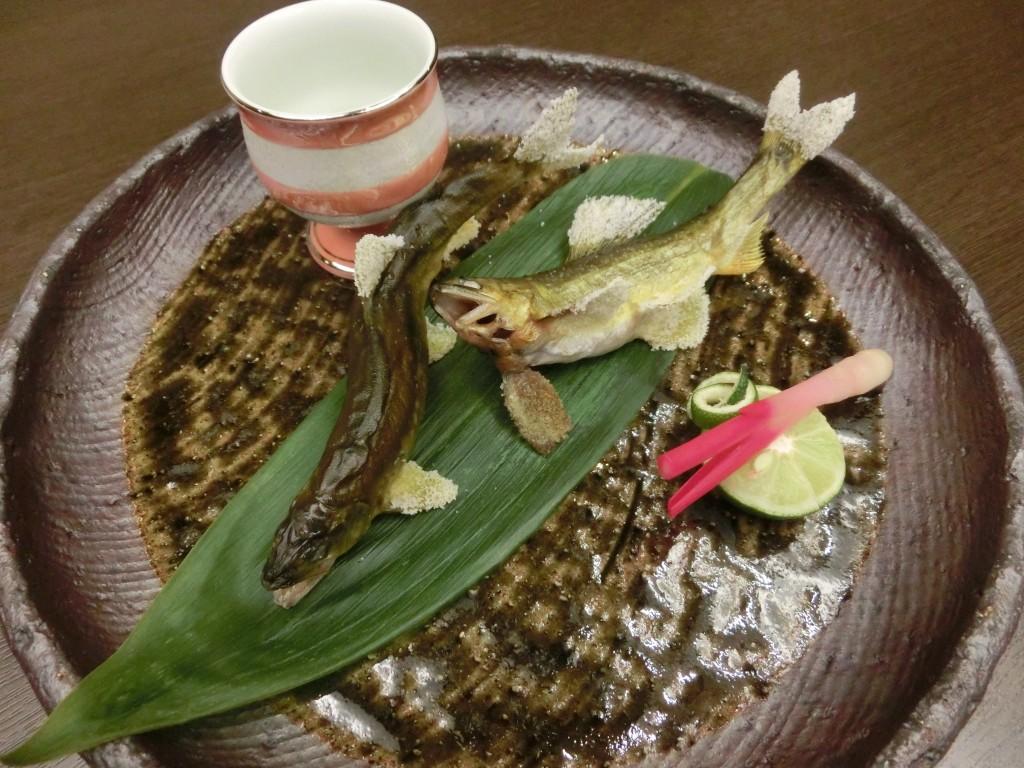 9月の特別料理~おち鮎の食べ比べ~